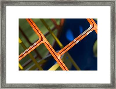 Jungle Gym Framed Print by Rebecca Cozart