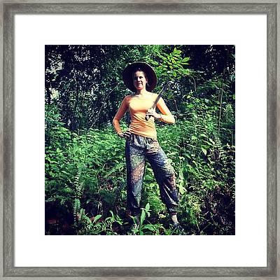 Jungle Hunting @ The Moluks Framed Print