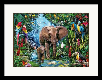 Lush Colors Digital Art Framed Prints