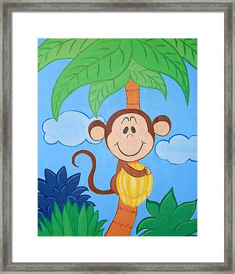 Jungle Monkey Framed Print