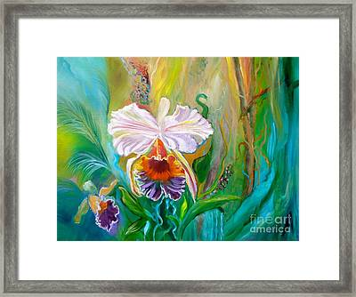 Jungle Orchid Framed Print by Jenny Lee