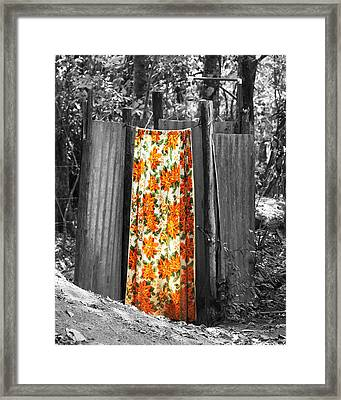 Jungle Shower Framed Print by RC Photography