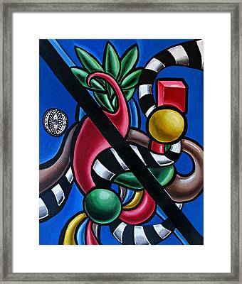 Jungle Stripes 1 - Abstract Art Painting - Ai P. Nilson Framed Print