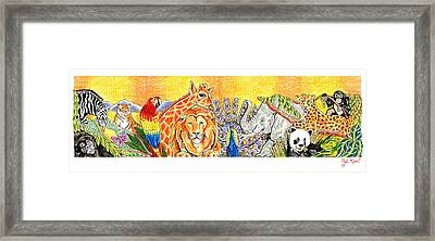 Jungle Tableau Framed Print by John Keaton