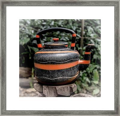 Jungle Tea Pot Framed Print