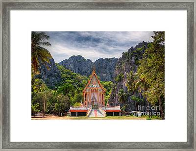 Jungle Temple Framed Print by Adrian Evans