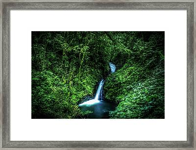 Jungle Waterfall Framed Print by Nicklas Gustafsson