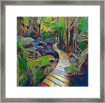 Jungle Way - My Www Vikinek-art.com Framed Print by Viktor Lebeda