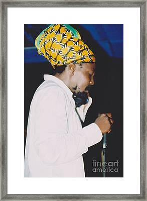 Junior Reid Black Uhuru Frontman Framed Print by Mia Alexander