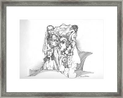 Junk In The Head Framed Print by Padamvir Singh