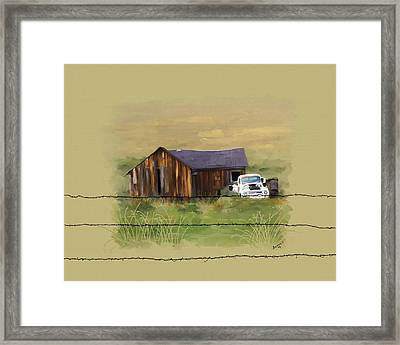 Framed Print featuring the painting Junk Truck by Susan Kinney