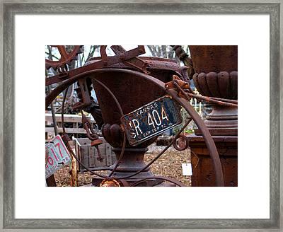 Junk Yard Art Framed Print by Sarah Le Feber