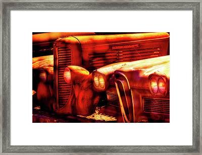 Junk Yard Cars Framed Print