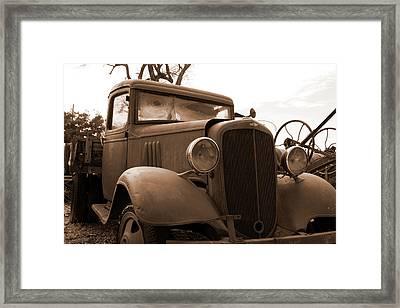 Junk Yard Chevy Truck Framed Print