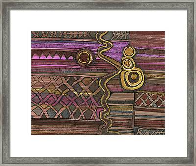 Junk Yard Fence Framed Print