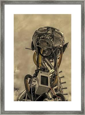 Junk Yard Robot Framed Print by Martin Newman
