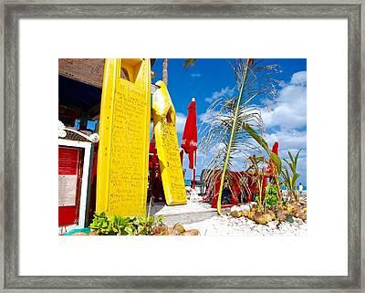 Junkanoo Beach Options Framed Print by David Coleman