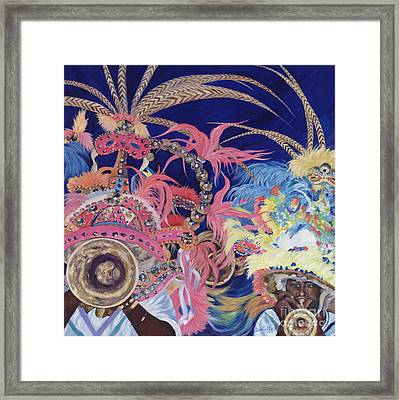 Junkanoo Framed Print by Danielle  Perry