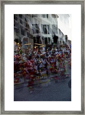 Junkanoo Double Dance Framed Print by Heather Kirk