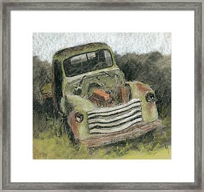 Junkyard Chevy Framed Print by David King