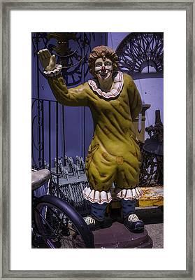 Junkyard Clown Framed Print by Garry Gay