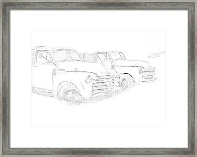 Junkyard Finds Framed Print