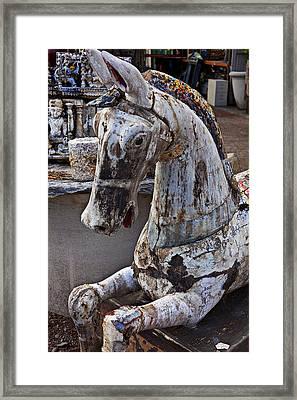 Junkyard Horse Framed Print by Garry Gay