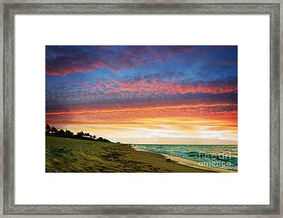Juno Beach Florida Sunrise Seascape D7 Framed Print by Ricardos Creations