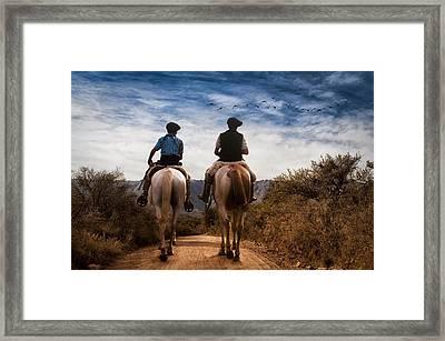Juntos A La Par Framed Print by Hans Wolfgang Muller Leg