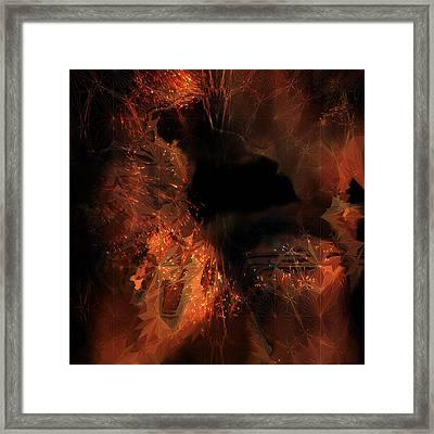 Framed Print featuring the digital art Jupiter Cave by Vadim Epstein