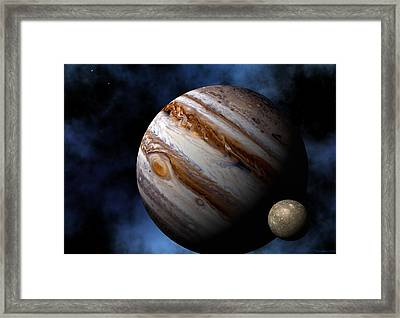 Framed Print featuring the digital art Jupiter by David Robinson