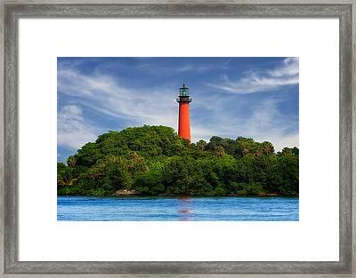 Jupiter Inlet Lighthouse - 1 Framed Print by Frank J Benz