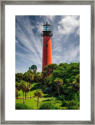 Jupiter Inlet Lighthouse - 10 Framed Print by Frank J Benz