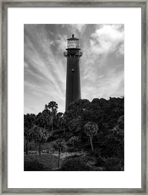 Jupiter Inlet Lighthouse - 11 Framed Print by Frank J Benz