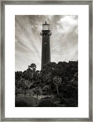 Jupiter Inlet Lighthouse - 12 Framed Print by Frank J Benz