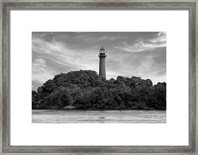 Jupiter Inlet Lighthouse - 2 Framed Print by Frank J Benz
