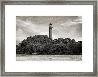 Jupiter Inlet Lighthouse - 3 Framed Print by Frank J Benz