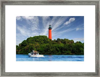 Jupiter Inlet Lighthouse - 4 Framed Print by Frank J Benz