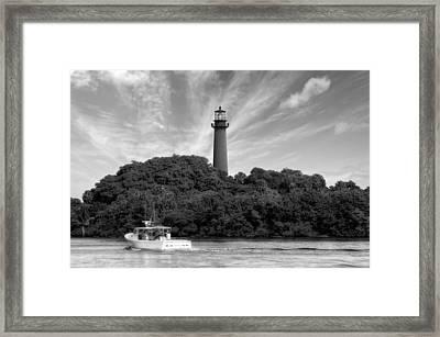 Jupiter Inlet Lighthouse - 5 Framed Print by Frank J Benz