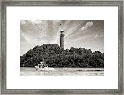 Jupiter Inlet Lighthouse - 6 Framed Print by Frank J Benz