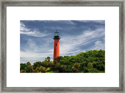 Jupiter Inlet Lighthouse - 7 Framed Print by Frank J Benz