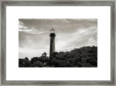 Jupiter Inlet Lighthouse - 9 Framed Print by Frank J Benz