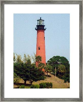 Framed Print featuring the photograph Jupiter Inlet Lighthouse by Frederic Kohli