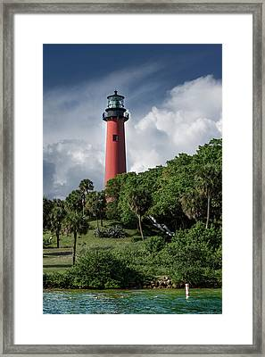 Jupiter Inlet Lighthouse Framed Print by Laura Fasulo