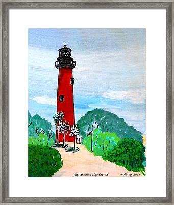 Jupiter Inlet Lighthouse Framed Print by W Gilroy