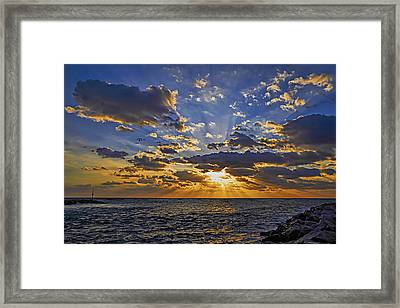 Jupiter Inlet Sunrise Framed Print