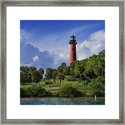 Jupiter Lighthouse Sq Framed Print