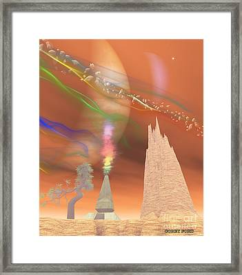 Jupiter Moon Io Framed Print by Corey Ford