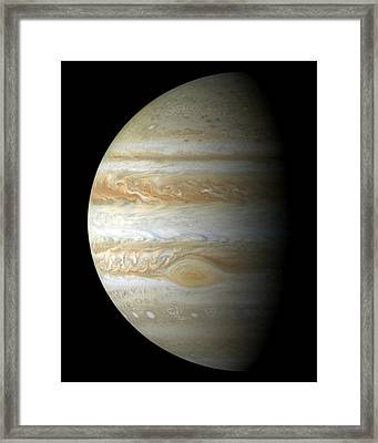 Jupiter Mosiac Framed Print by Stocktrek Images