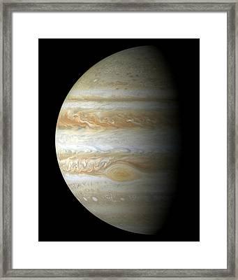 Jupiter Mosiac Framed Print by Stocktrek Images